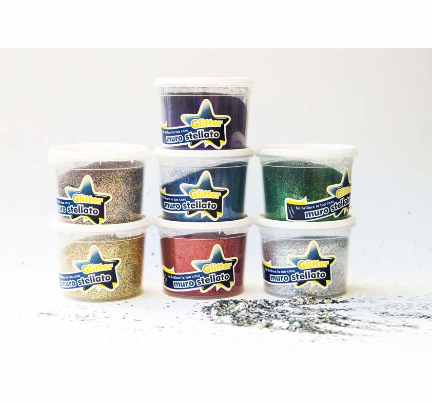Muro stellato pittura effetto glitter stellato per la for Pitture con brillantini