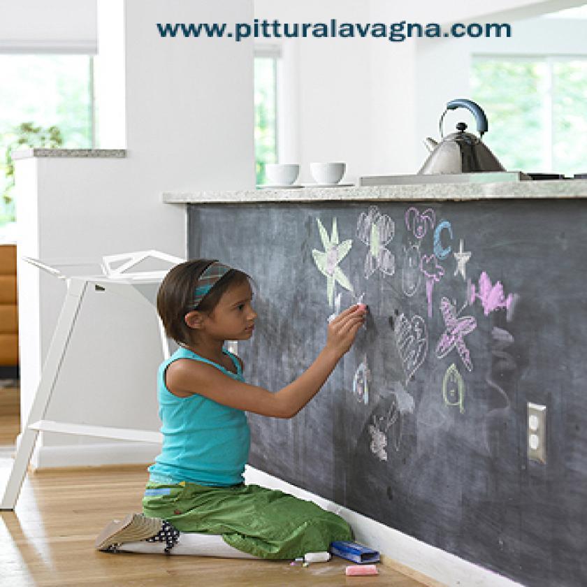 Pittura effetto Lavagna ® è una pittura per lavagna murale ...