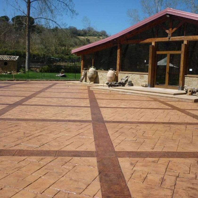 Pavimento stampato fai da te scawo by casseforme - Gradini in cemento per esterno ...