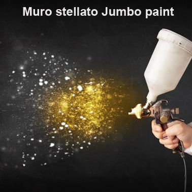 Muro stellato pittura effetto glitter stellato per la for Pittura con brillantini